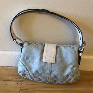 Coach Bags - Light Blue/White Coach Handbag. Hello Summer!